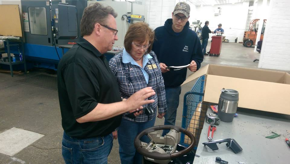 Osseo Precision Machine meeting with Kathy Bernier